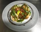 Photo Encornets snakes, sauce parmesan et citron, risotto au fumet de Poissons - La Salle à Manger